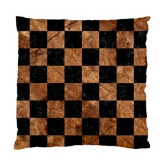 Square1 Black Marble & Brown Stone Standard Cushion Case (one Side) by trendistuff