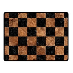 Square1 Black Marble & Brown Stone Fleece Blanket (small) by trendistuff