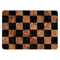 Square1 Black Marble & Brown Stone Samsung Galaxy Tab 8 9  P7300 Flip Case