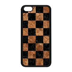 Square1 Black Marble & Brown Stone Apple Iphone 5c Seamless Case (black) by trendistuff