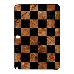 Square1 Black Marble & Brown Stone Samsung Galaxy Tab Pro 12 2 Hardshell Case by trendistuff