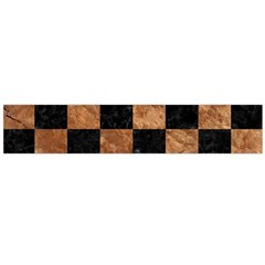 Square1 Black Marble & Brown Stone Flano Scarf (large) by trendistuff