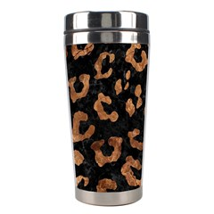 Skin5 Black Marble & Brown Stone (r) Stainless Steel Travel Tumbler by trendistuff