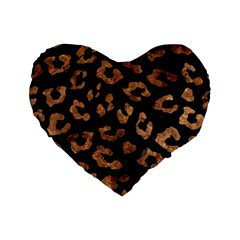 Skin5 Black Marble & Brown Stone (r) Standard 16  Premium Flano Heart Shape Cushion  by trendistuff