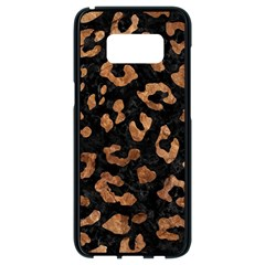 Skin5 Black Marble & Brown Stone (r) Samsung Galaxy S8 Black Seamless Case