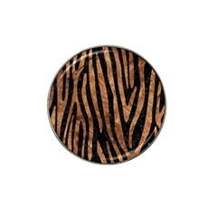 Skin4 Black Marble & Brown Stone (r) Hat Clip Ball Marker (4 Pack) by trendistuff