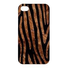 Skin4 Black Marble & Brown Stone (r) Apple Iphone 4/4s Hardshell Case by trendistuff