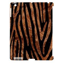 Skin4 Black Marble & Brown Stone (r) Apple Ipad 3/4 Hardshell Case (compatible With Smart Cover) by trendistuff
