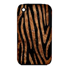 Skin4 Black Marble & Brown Stone (r) Apple Iphone 3g/3gs Hardshell Case (pc+silicone) by trendistuff