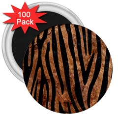 Skin4 Black Marble & Brown Stone 3  Magnet (100 Pack) by trendistuff