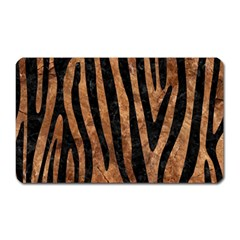 Skin4 Black Marble & Brown Stone Magnet (rectangular) by trendistuff