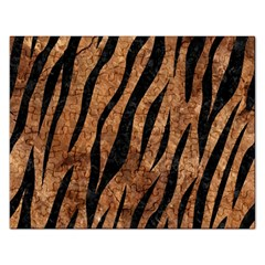 Skin3 Black Marble & Brown Stone (r) Jigsaw Puzzle (rectangular) by trendistuff