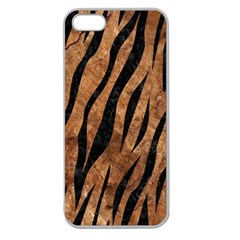Skin3 Black Marble & Brown Stone (r) Apple Seamless Iphone 5 Case (clear) by trendistuff