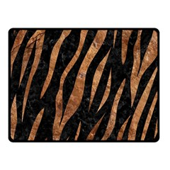 Skin3 Black Marble & Brown Stone Fleece Blanket (small) by trendistuff