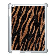 Skin3 Black Marble & Brown Stone Apple Ipad 3/4 Case (white) by trendistuff
