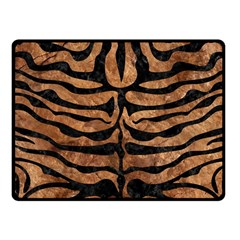 Skin2 Black Marble & Brown Stone (r) Fleece Blanket (small) by trendistuff