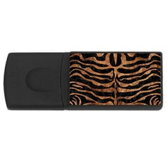 Skin2 Black Marble & Brown Stone Usb Flash Drive Rectangular (4 Gb) by trendistuff