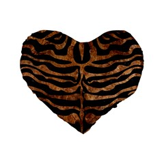 Skin2 Black Marble & Brown Stone Standard 16  Premium Heart Shape Cushion  by trendistuff