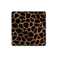 Skin1 Black Marble & Brown Stone (r) Magnet (square) by trendistuff