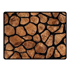 Skin1 Black Marble & Brown Stone Fleece Blanket (small) by trendistuff