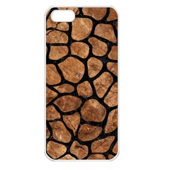 Skin1 Black Marble & Brown Stone Apple Iphone 5 Seamless Case (white) by trendistuff
