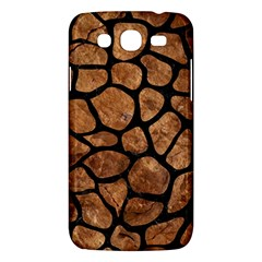 Skin1 Black Marble & Brown Stone Samsung Galaxy Mega 5 8 I9152 Hardshell Case  by trendistuff