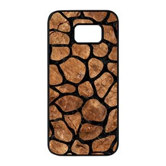 Skin1 Black Marble & Brown Stone Samsung Galaxy S7 Edge Black Seamless Case by trendistuff