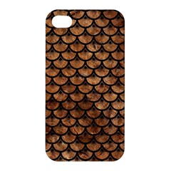 Scales3 Black Marble & Brown Stone (r) Apple Iphone 4/4s Premium Hardshell Case by trendistuff
