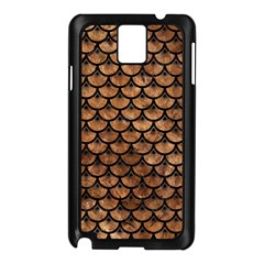 Scales3 Black Marble & Brown Stone (r) Samsung Galaxy Note 3 N9005 Case (black) by trendistuff