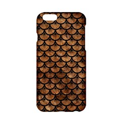 Scales3 Black Marble & Brown Stone (r) Apple Iphone 6/6s Hardshell Case by trendistuff