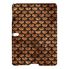 Scales3 Black Marble & Brown Stone (r) Samsung Galaxy Tab S (10 5 ) Hardshell Case