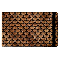Scales3 Black Marble & Brown Stone (r) Apple Ipad Pro 9 7   Flip Case by trendistuff