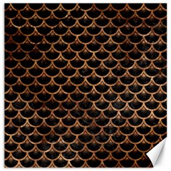 Scales3 Black Marble & Brown Stone Canvas 20  X 20  by trendistuff