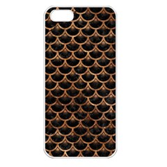 Scales3 Black Marble & Brown Stone Apple Iphone 5 Seamless Case (white) by trendistuff