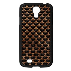 Scales3 Black Marble & Brown Stone Samsung Galaxy S4 I9500/ I9505 Case (black) by trendistuff