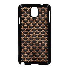 Scales3 Black Marble & Brown Stone Samsung Galaxy Note 3 Neo Hardshell Case (black)