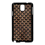 SCALES3 BLACK MARBLE & BROWN STONE Samsung Galaxy Note 3 Neo Hardshell Case (Black) Front