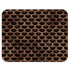 Scales3 Black Marble & Brown Stone Double Sided Flano Blanket (medium) by trendistuff
