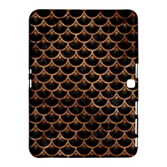 Scales3 Black Marble & Brown Stone Samsung Galaxy Tab 4 (10 1 ) Hardshell Case  by trendistuff