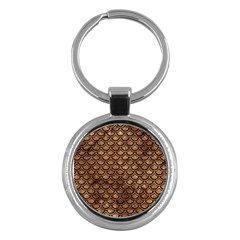 Scales2 Black Marble & Brown Stone (r) Key Chain (round) by trendistuff