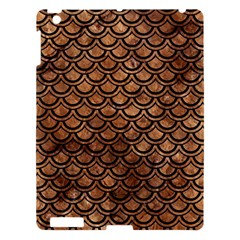 Scales2 Black Marble & Brown Stone (r) Apple Ipad 3/4 Hardshell Case by trendistuff