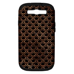 Scales2 Black Marble & Brown Stone Samsung Galaxy S Iii Hardshell Case (pc+silicone) by trendistuff
