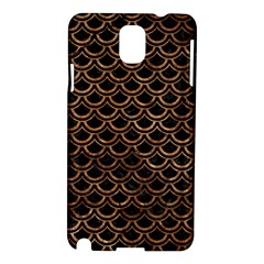 Scales2 Black Marble & Brown Stone Samsung Galaxy Note 3 N9005 Hardshell Case by trendistuff