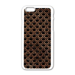 Scales2 Black Marble & Brown Stone Apple Iphone 6/6s White Enamel Case by trendistuff