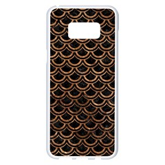 Scales2 Black Marble & Brown Stone Samsung Galaxy S8 Plus White Seamless Case by trendistuff