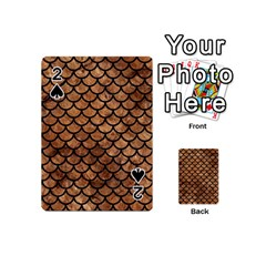 Scales1 Black Marble & Brown Stone (r) Playing Cards 54 (mini) by trendistuff