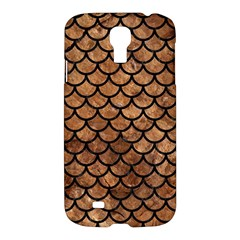 Scales1 Black Marble & Brown Stone (r) Samsung Galaxy S4 I9500/i9505 Hardshell Case by trendistuff
