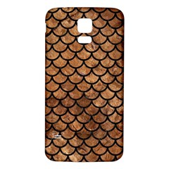Scales1 Black Marble & Brown Stone (r) Samsung Galaxy S5 Back Case (white) by trendistuff