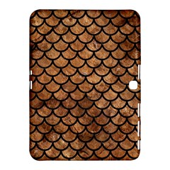 Scales1 Black Marble & Brown Stone (r) Samsung Galaxy Tab 4 (10 1 ) Hardshell Case  by trendistuff
