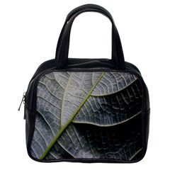 Leaf Detail Macro Of A Leaf Classic Handbags (one Side) by Nexatart